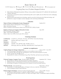 Resume Skills Examples For Technical Support Position With