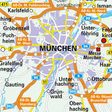 map of greater munich (münchen) bavaria  bayern germany maps