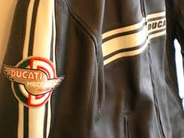 fs ducati performance retro leather jacket by dainese size 56