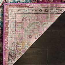 safavieh monaco collection mnc243d vintage oriental colorful pink and multi area rug 4 x 5 7