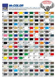 Fiat 500 Colour Chart Mr Color Paint Red Brown Ii 10ml C131 Gsi C 131 Gunze
