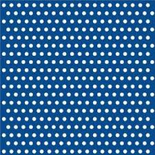 Patterned Paper Stunning Navy Blue With White Polka Dots Patterned Paper Lunch Napkins X 48