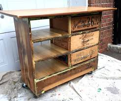 Rustic Kitchen Island Cart Ugly Dresser Turned Into Rustic Kitchen Island Cart 6 Steps With