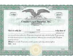 Best 3 Stock Certificate Template Format Excel You Calendars