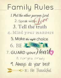 Beautiful Quotes For Family Best Of Family Rules
