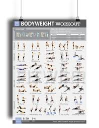 get ations bodyweight exercise workout poster laminated gym home workout plans bodyweight
