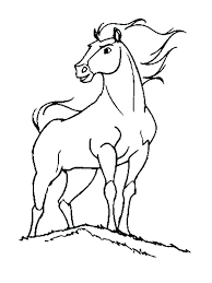 Horse Coloring Page Roomhiinfo
