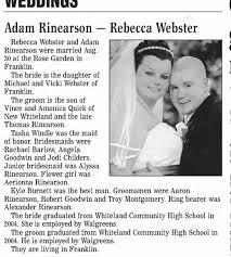 Adam and Rebecca Wedding 2008 - Newspapers.com