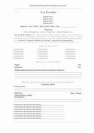 Word Resume Template Mac Fresh Free Basic Resume Templates