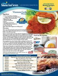 clic weinerschnitzel bahamas food services recipes