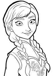Small Picture Anna Portrait Frozen Coloring Page Frozen Coloring book