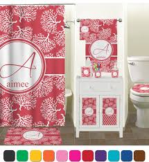 Coral Bathroom Decor Coral Colored Bathroom Accessories Bathub Home Interior Decor