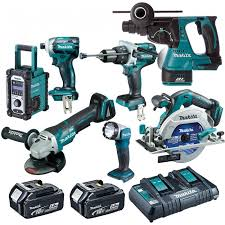 makita battery. makita 18v 5.0ah li-ion mobile 7 pce brushless combo kit (bonus 4.0 battery