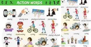 Action Words Chart With Pictures Action Words List Of Common Action Words With Pictures 7