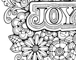 Adult Colouring Page Original Hand Draw Art In Black And Etsy