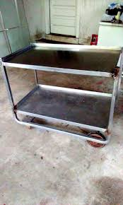 Metal Table For Kitchen Pallet Wood Work On A Metal Table 101 Pallet Ideas