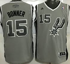 Matt 15 Spurs Road Jersey Nba New Black Bonner Stitched