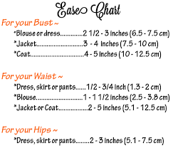 Pattern Ease Chart Ease Chart For Fashion Sewing And More Helpful Tips