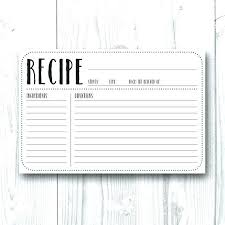 Full Page Recipe Templates Recipe Page Card Printable Editable Full X Template Instant