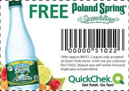 Sparkling Image Coupons Free Poland Spring Sparkling Water At Quick Chek Living