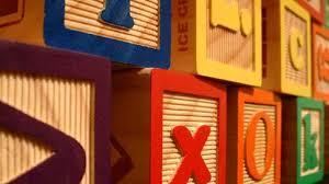 Resultado de imagen para Letras de juguete o en bloques