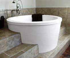 large sized 2 person soaking tub freestanding