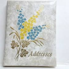 Birthday And Address Book Vintage Floral Address Book Phone Birthday Anniversary Springfield