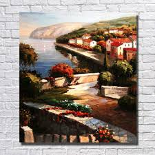 2018 hand painted mediterranean sea oil painting on canvas modern wall art for living room nice home wall decor from dafenoilpaintingyeah 30 39 dhgate  on mediterranean canvas wall art with 2018 hand painted mediterranean sea oil painting on canvas modern