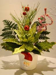 CHRISTMAS SILK FLORAL ARRANGEMENT #3010