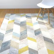 gray and yellow area rug hand tufted gold rugs teal white s blue