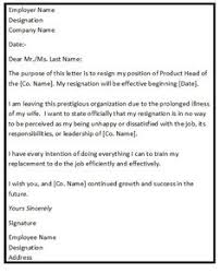 Resignation Letter Sample 2 Weeks Notice - Google Search ...