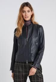 jafable leather jacket dark grey