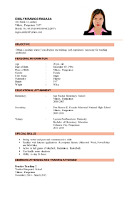 Educational Attainment Example In Resume Educational Attainment Example In Resume Examples of Resumes 1