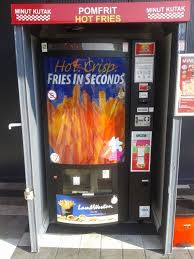 Hot Chip Vending Machine Locations Stunning French Frie Vending Machine Prepared Fresh Fries On Hot Air Buy