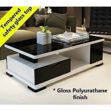 modern multi level gloss coffee table