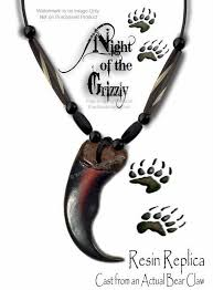 free ship rugged grizzly bear claw necklace wild mountain man rendezvous g5