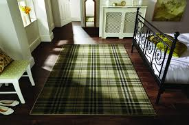 flair glen kilry sage green tartan rugs