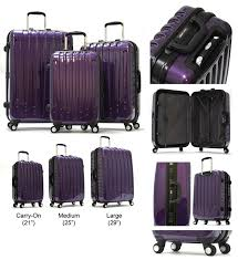 new arrivals 91485 043af Coach Madison Logo Medium Grey Luggage Bags DKH   good d5160 f609e Hard-Shell Purple Luggage ...