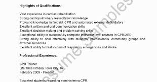Bls Certification On Resume Cpr Certification On Resume New Bls Certification Resume