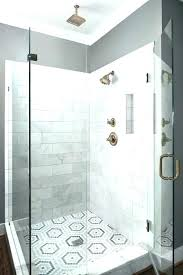 white shower tile ideas hexagon shower tile shower tile patterns white and gray penny tiles laid