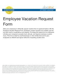 Vacation Time Off Request Letter | Myvacationplan.org