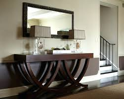 large dark wood mirror wall ikea foyer entry table round tables furniture inside adorable wooden