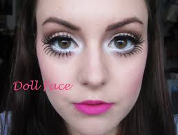 doll face big doll eyes pale skin freckles perfect makeup tutorial for my costume