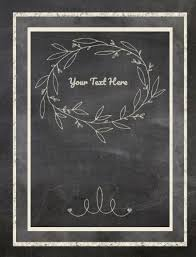 on the chalkboard cover you can choose the border frame and embellishment from a wide selection of options