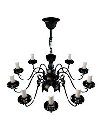 3d model of 10 light black chandelier with candles available 3d file format max 3d studio max 2010 v ray render free this 3d model and put it
