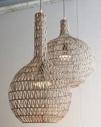 rattan pendant lighting. an unusual pendant light in woven rattan over a wire frame contemporary style natural lighting pinterest