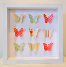 butterfly 3d paper cut wall art white shadow box stripes floral spots on 3d paper cut wall art with butterfly 3d paper cut wall art white shadow box stripes floral