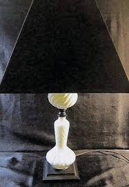 milk glass table lamps vintage milk glass table lamp with black shade spindle base w swirled