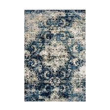 loloi torrance navy ivory indoor distressed area rug common 8 x 11