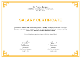 Format Of Employer Certificate Salary Certificate Formats 16 Printable Word Excel Pdf